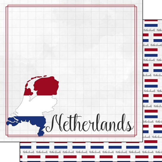Netherlands 12x12 Double Sided Scrapbooking Paper