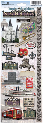 New Orleans Cardstock Scrapbooking Stickers