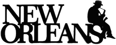 New Orleans Scrapbooking Laser Cut Title with jazz