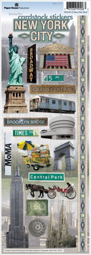 New York 2 Cardstock Scrapbooking Stickers