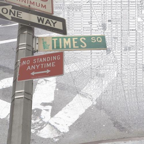 New York Map 12x12 Scrapbooking Paper