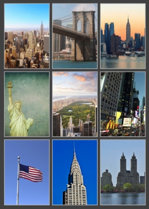 New York Scrapbooking Pack - 9 Sheets of 12x12 Paper
