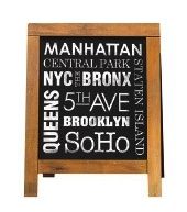 New York Sandwich Board Scrapbooking Sticker