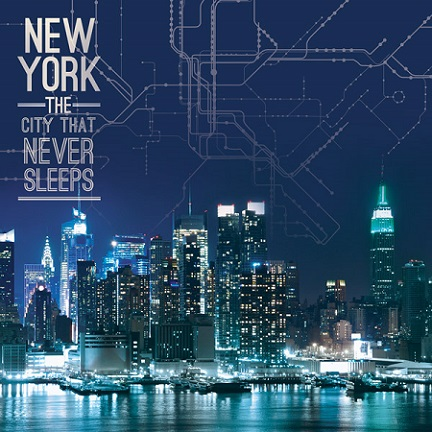 NYC Never Sleeps 12x12 Scrapbooking Paper