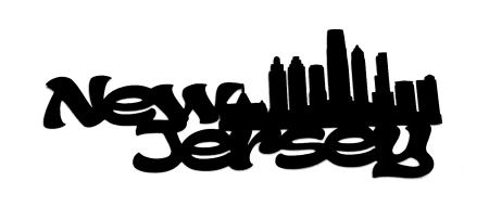 New Jersey Scrapbooking Laser Cut Title with skyline
