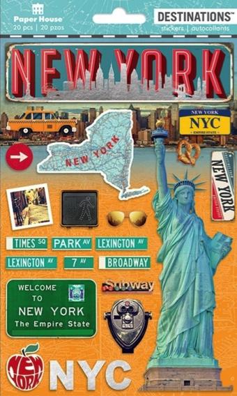 New York 3D Destinations Scrapbooking Stickers