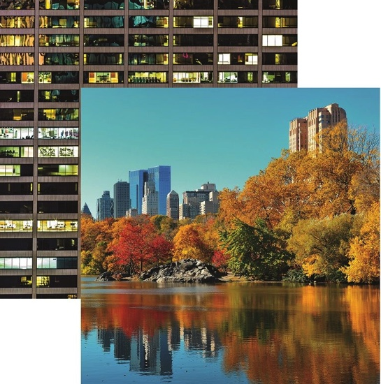 New York Central Park Double Sided 12x12 Scrapbooking Paper