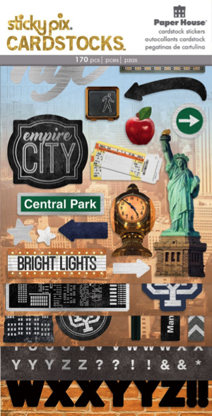 New York Scrapbooking Cardstock Stickers and Alphabet Multi Pack 5 Sheets