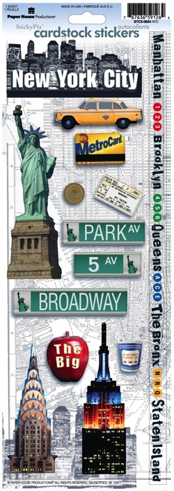 New York Cardstock Scrapbooking Stickers