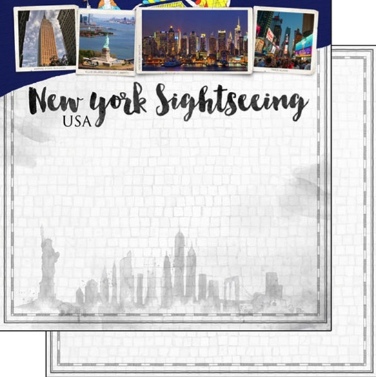 New York Sightseeing 12x12 Double Sided Scrapbooking Paper