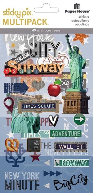 New York Scrapbooking Mixed Sticker Multi Pack
