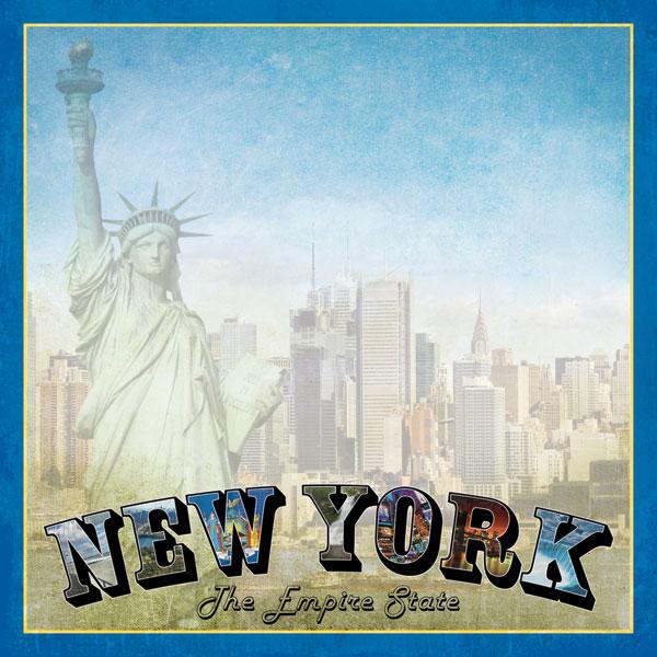 New York Vintage 12x12 Scrapbooking Paper