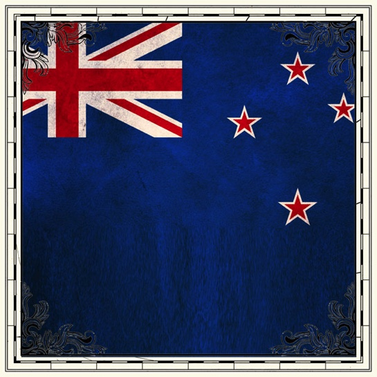 New Zealand Flag 12x12 Scrapbooking Paper