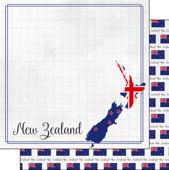 New Zealand 12x12 Double Sided Scrapbooking Paper