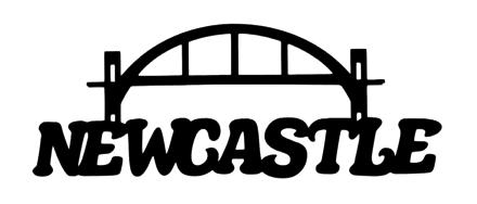 Newcastle Scrapbooking Laser Cut Title with Bridge