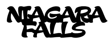Niagara Falls Scrapbooking Laser Cut Title