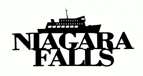 Niagara Falls Scrapbooking Laser Cut Title with Boat