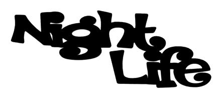 Night Life Scrapbooking Laser Cut Title