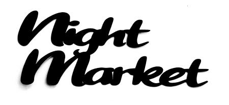 Night Market Scrapbooking Laser Cut Title