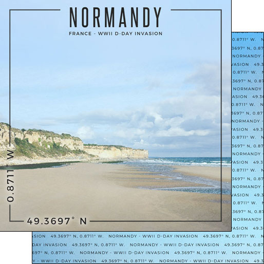 Normandy 12x12 Double Sided Scrapbooking Paper