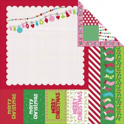 North Pole 12x12 Double Sided Scrapbooking Paper