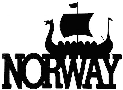 Norway Scrapbooking Laser Cut Title with Viking Ship