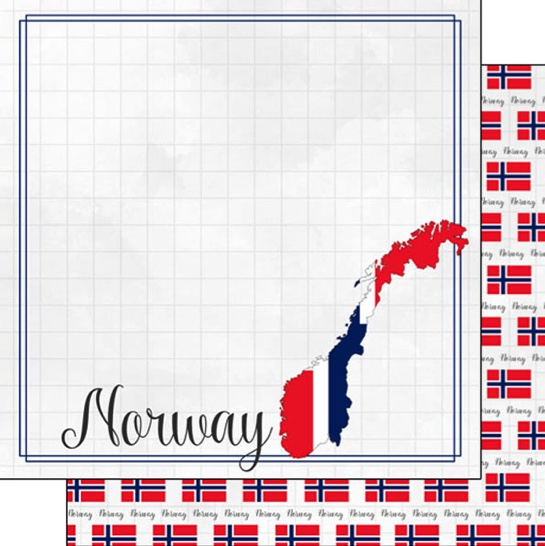 Norway 12x12 Double Sided Scrapbooking Paper