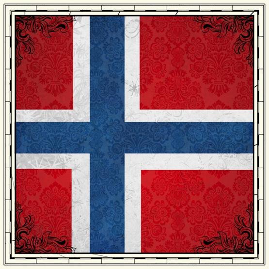 Norway Flag 12x12 Scrapbooking Paper