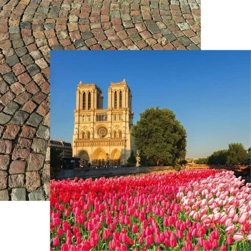 Notre Dame 12x12 Double Sided Scrapbooking Paper