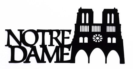 Notre Dame Scrapbooking Laser Cut Title with building