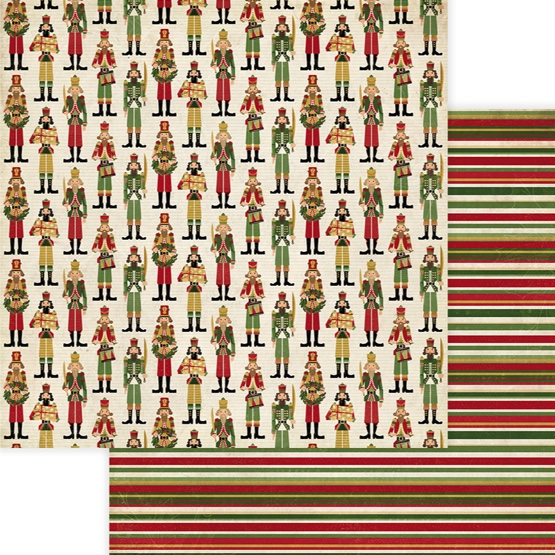 Nutcracker Christmas 12x12 Double Sided Scrapbooking Paper
