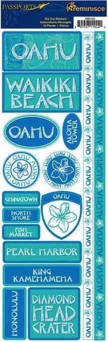 Oahu Cardstock Scrapbooking Stickers and Borders