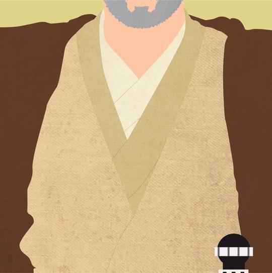 Obi Wan Kenobi Star Wars 12x12 Scrapbooking Paper
