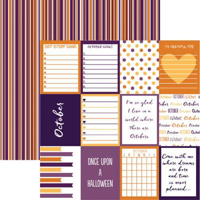 Plan it October 12x12 Double Sided Scrapbooking Paper