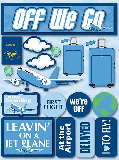 Off We Go 3D Scrapbooking Stickers
