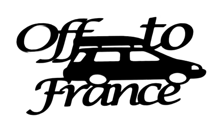 Off to France Scrapbooking Laser Cut Title with Car