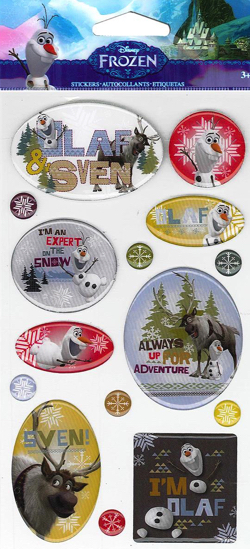 Olaf and Sven Disney Epoxy Scrapbooking Stickers
