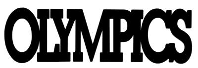Olympics Scrapbooking Laser Cut Title