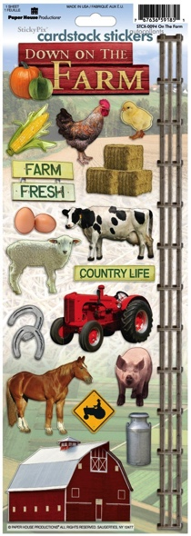 On the Farm Cardstock Scrapbooking Stickers