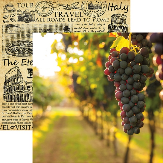 On the Vine 12x12 Double Sided Scrapbooking Paper