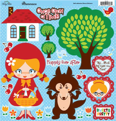 Once Upon a Time 12x12 Cardstock Scrapbooking Stickers