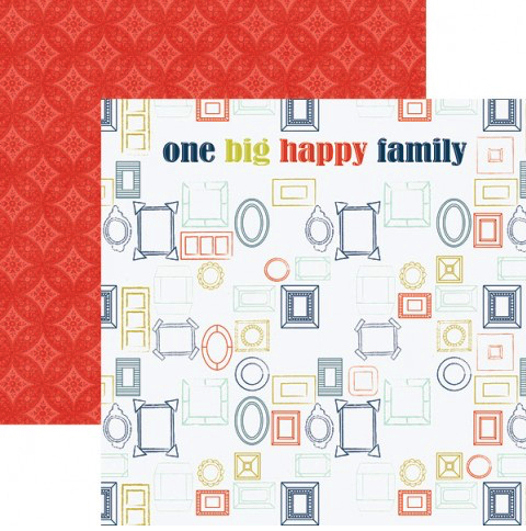 One Big Happy Family 12x12 Double Sided Scrapbooking Paper