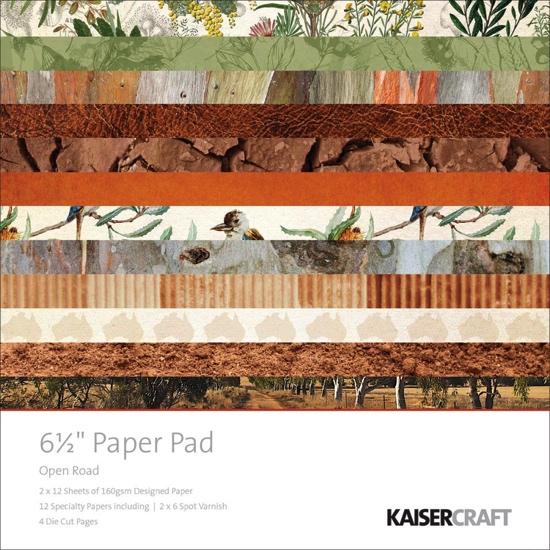 """Open Road Scrapbooking 6.5"""" x 6.5"""" Paper Pad - 40 sheets"""