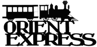Orient Express Scrapbooking Laser Cut Title with Train