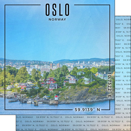 Oslo 12x12 Double Sided Scrapbooking Paper