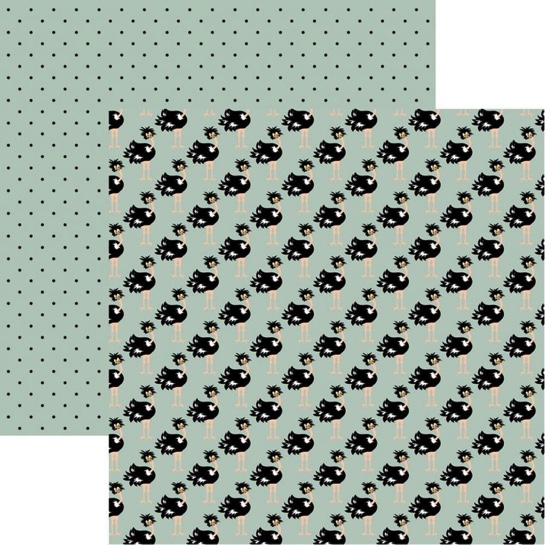 Ostriches 12x12 Double Sided Scrapbooking Paper