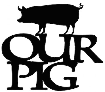 Our Pig Scrapbooking Laser Cut Title With Pig