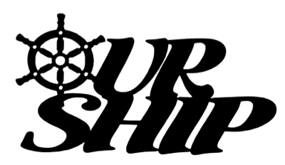 Our Ship Scrapbooking Laser Cut Title with Wheel