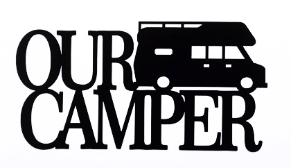 Our Camper Scrapbooking Laser Cut Title with Camper