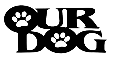 Our Dog Scrapbooking Laser Cut Title with paw prints